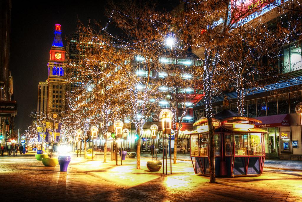 デンバー市街 16th Street Mall ...