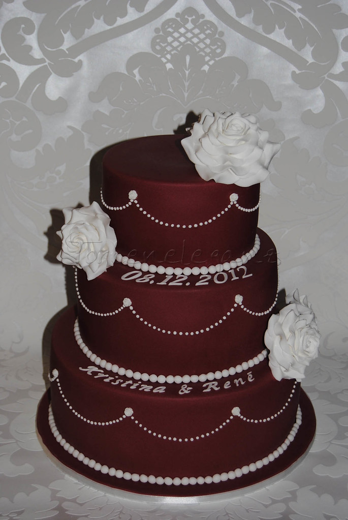 Dark Red Wedding Cake Torteneleganz Flickr