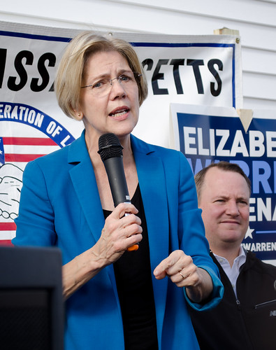 Elizabeth Warren and Tim Murray | by Tim Pierce