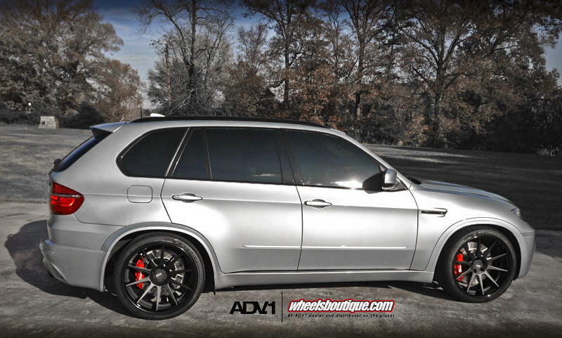 Bmw X5m On Adv10 Deep Concave Wheels Brembos Matte
