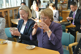 UN Women Executive Director Michelle Bachelet participates in a tea ceremony at Shibuya Junior and Senior High School during her first official visit to Japan | by UN Women Gallery