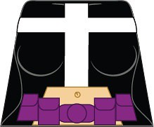 Lego custom Huntress decal | Credit - 10.0KB