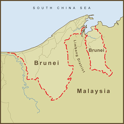 A map of brunei and its strange border with malaysia flickr a map of brunei and its strange border with malaysia by amproehl gumiabroncs Gallery
