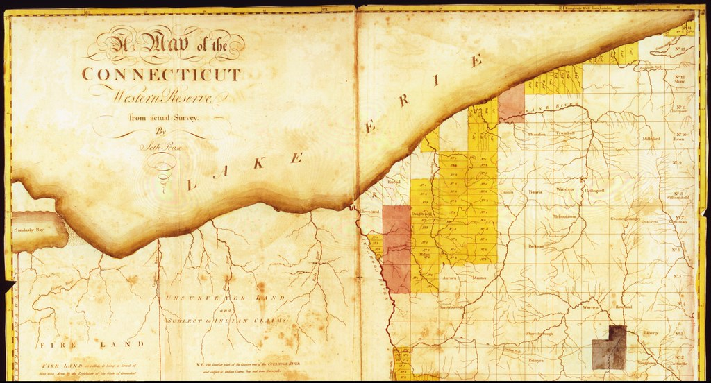 Map Of The Connecticut Western Reserve By Seth Pease Flickr