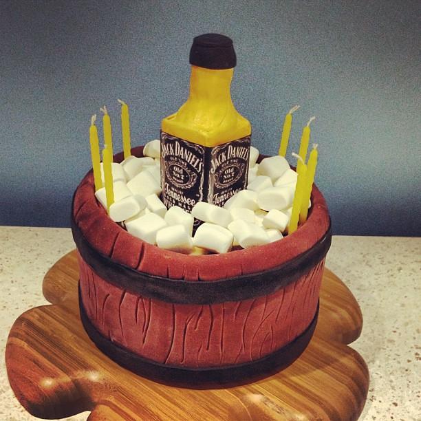 jack daniels drank cake sugarart birthday happy coo Flickr