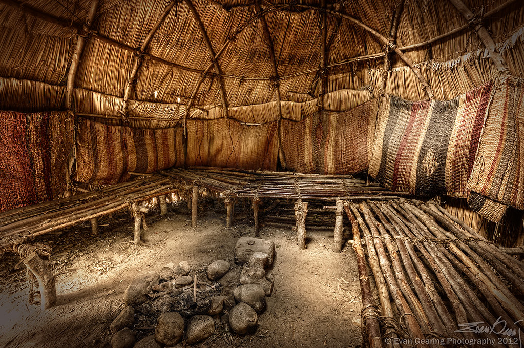 Wampanoag House Interior The Wampanoag Were The American