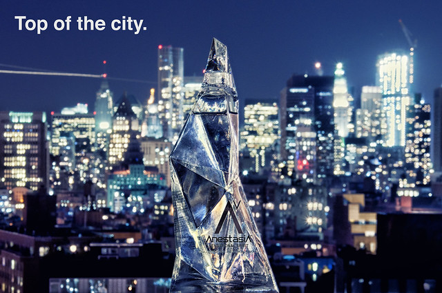 vodka with city backdrop