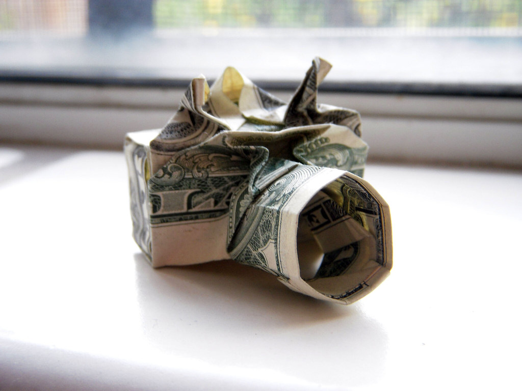 Dollar Origami Camera By Won Park Instructions Found Here Flickr