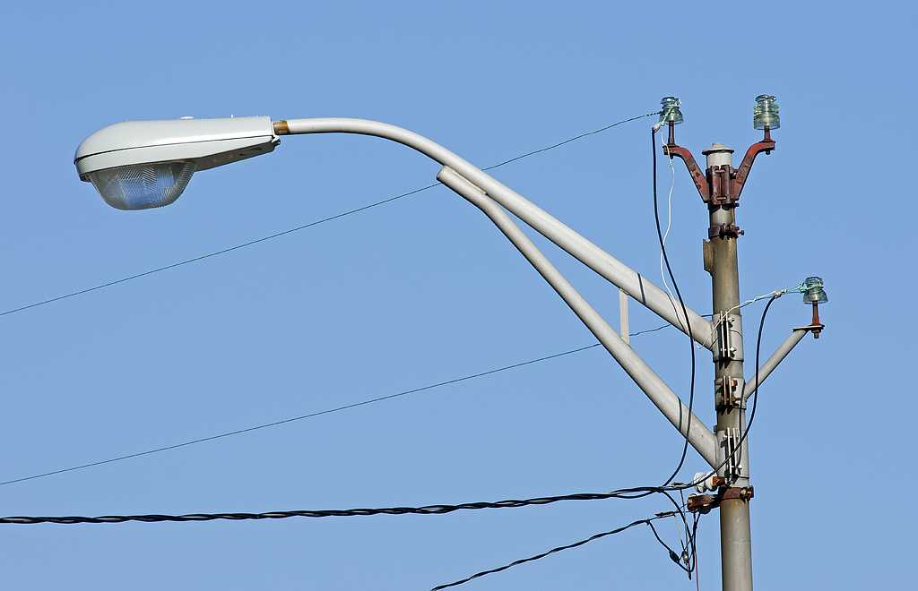 Street light post with glass insulators auburn indiana a flickr street light post with glass insulators by monon738 mozeypictures Images