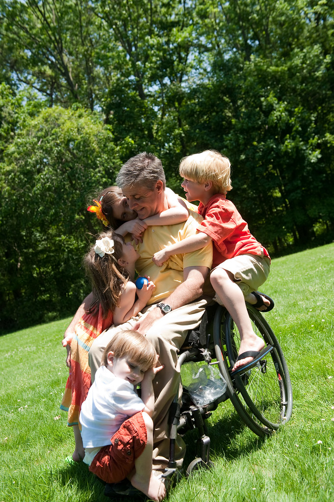 a personal recount on living with a handicapped person Español people who are limited in one or more major life activities - hearing, seeing, thinking or memory, walking or moving, taking care of personal needs (bathing, feeding, dressing) or living independently - are said to have a disability.