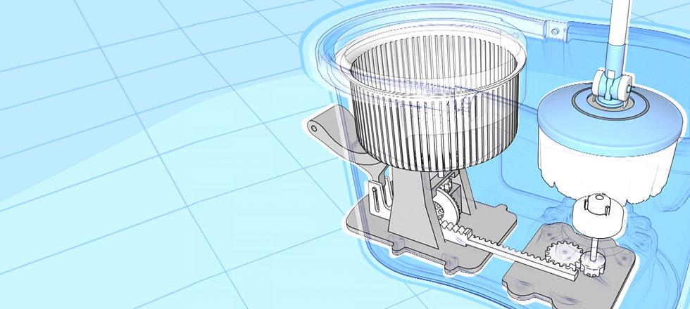 Hurricane Mop Spinning Washer Dryer Bucket System