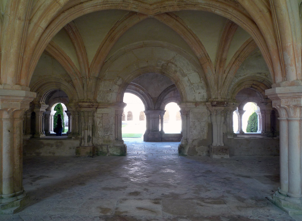 chapter house looking toward cloisterabbaye de fontenay flickr. Black Bedroom Furniture Sets. Home Design Ideas
