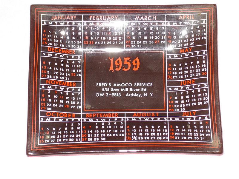 1959 Ash Tray | 1959 Calendar Ash Tray I bought from EBay be ...