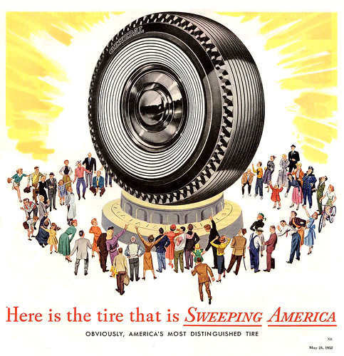 1952 ... worship of the giant tire!   all images/posts are f…   Flickr