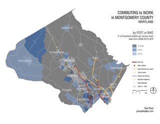 Commuting to Work in MoCo: By Foot or Bike | by dan reed!