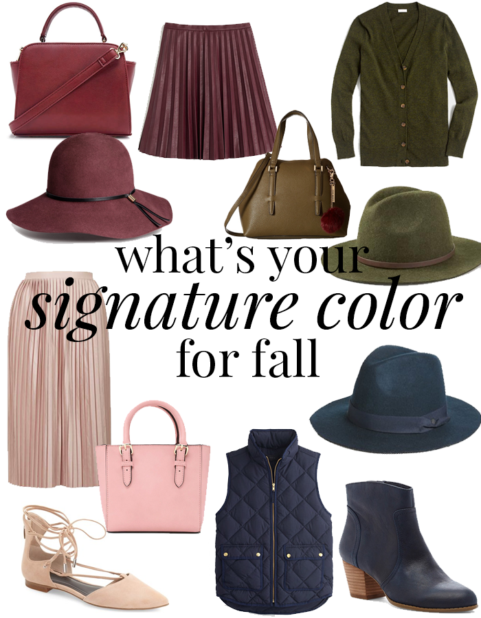 fall signature colors