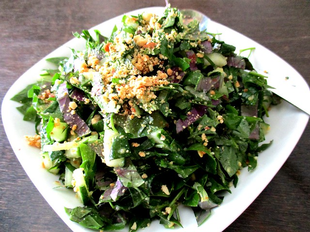 Payung Cafe herbs salad