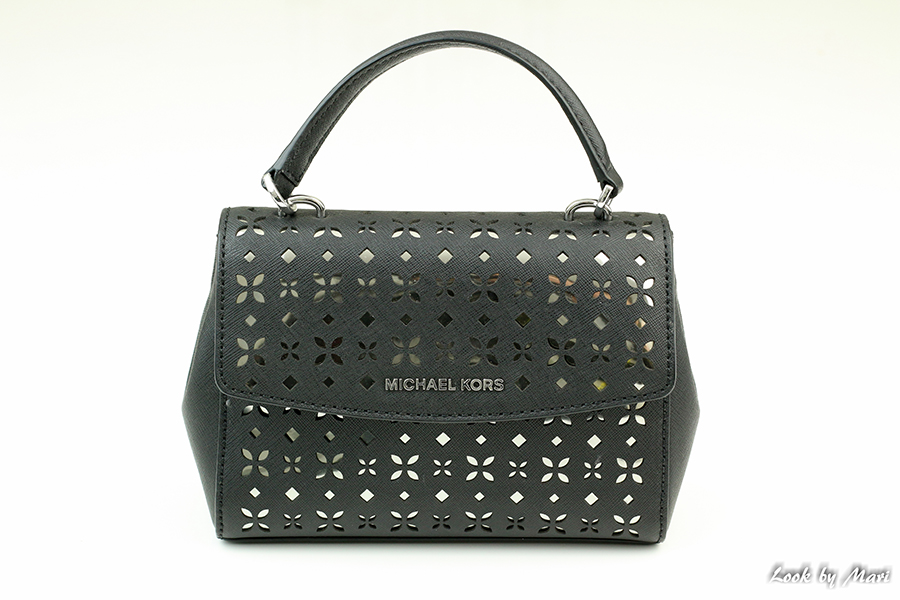 1 Michael Kors Ava XS Laser-Cut Crossbody Bag Black Nickel