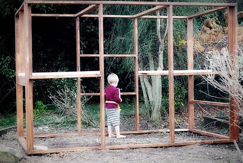 building the chicken coop | by sew liberated