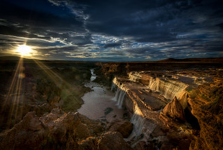 Grand Falls in Golden Light | by Charlie Stinchcomb