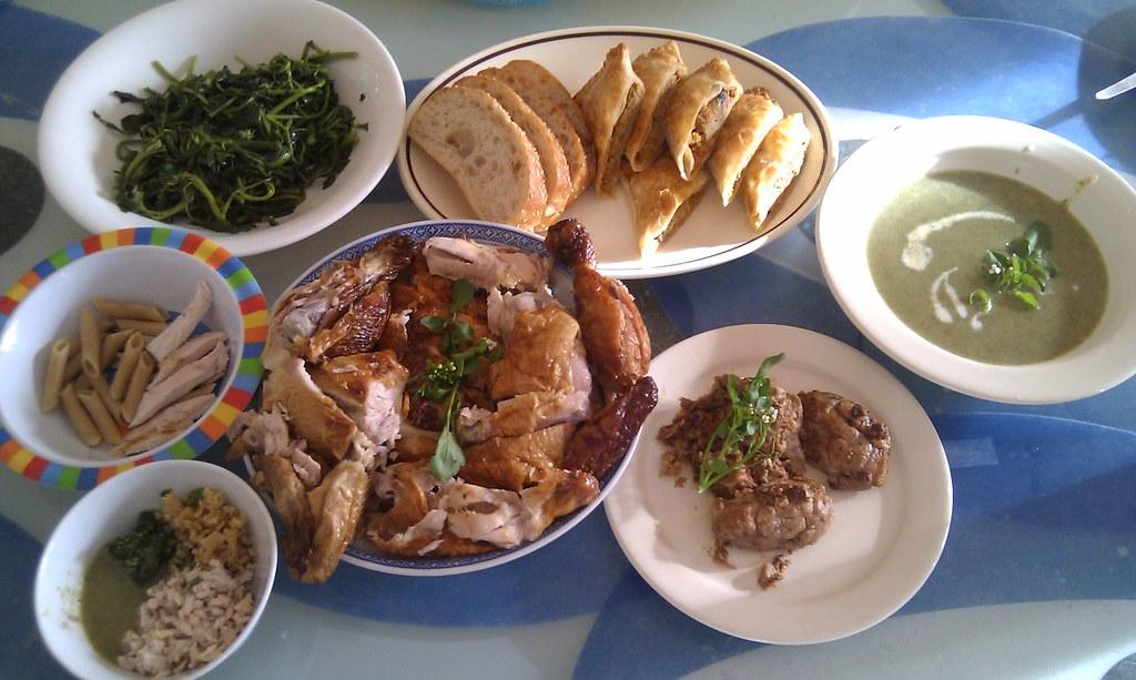 Pig brains, curry puffs, watercress soup, roast chicken | Flickr