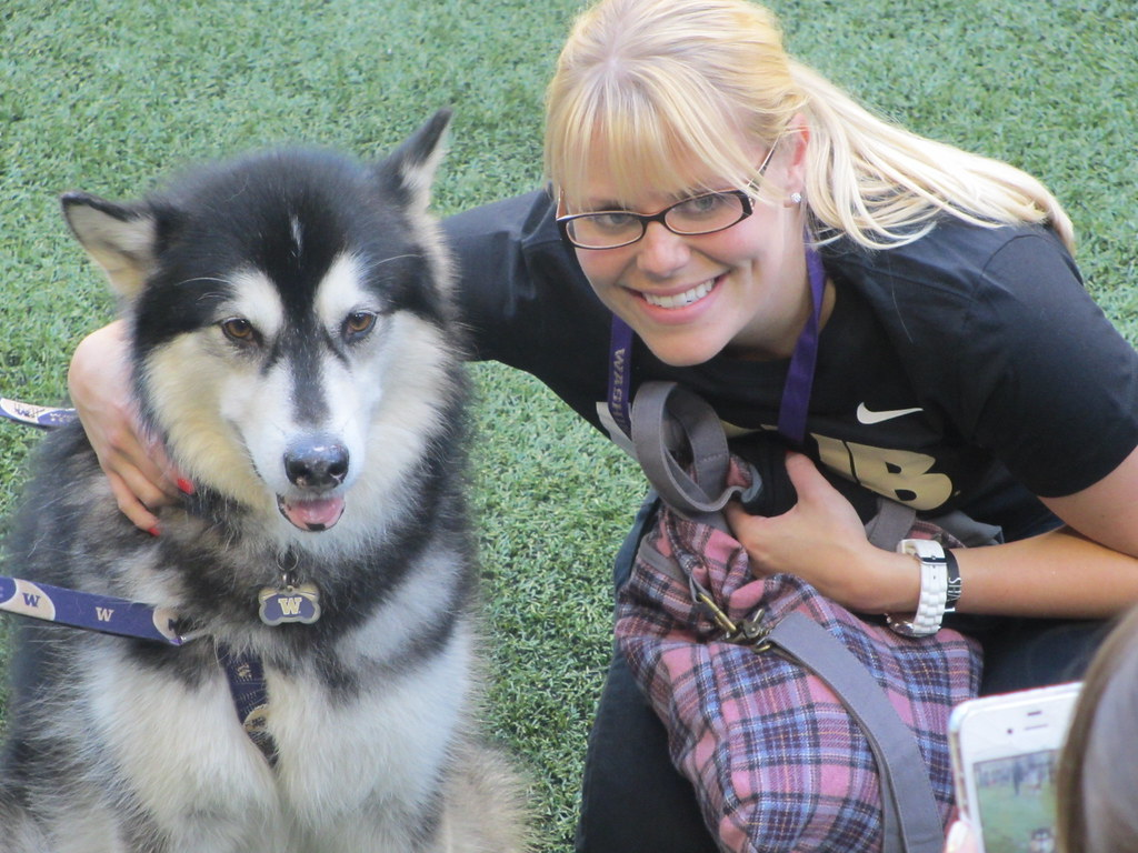 the university of washington mascot and his new friend at flickr