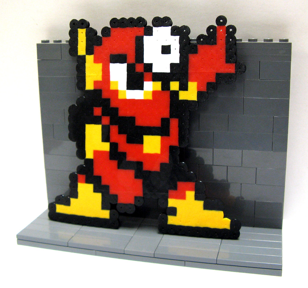 Mega man 2 metalman perler pixel art more pixel sprites flickr mega man 2 metalman perler pixel art by toywiz voltagebd Choice Image