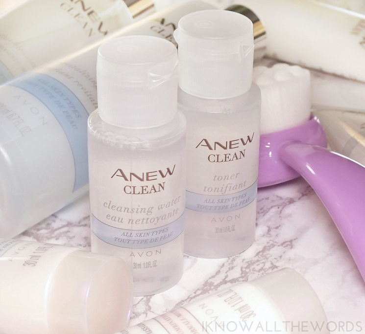 avon anew clean mini micellar and toner
