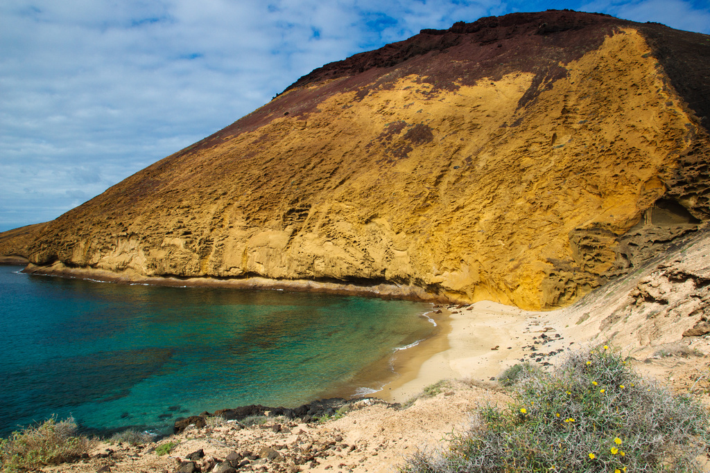 Playa De La Cocina Y Monta 241 A Amarilla La Graciosa Flickr