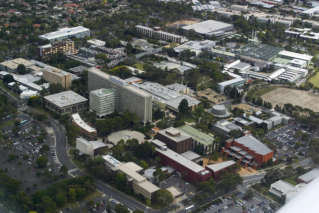 Aerial view of Claton Campus | Clayton, 20 kilometres south-… | Flickr