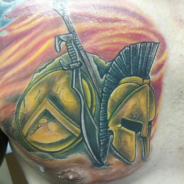 #Spartan #Sparta #tattoos #tattoo #art #helmet #chest #art ...