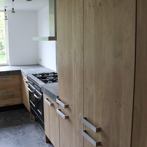 Massief eiken houten keuken met ikea keuken kasten door ko flickr - Decoratie stijl van de bergen ...