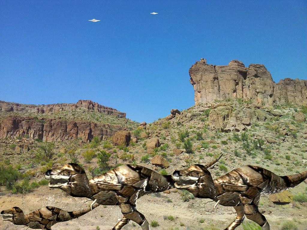 Arizona Desert UFO Dinosaur Hunt 2,000,000 BC | Arizona Dese ... Dinosaurs