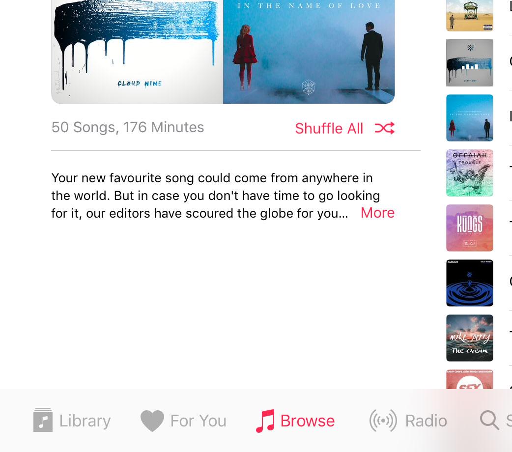 Music descrptions aren't full-height