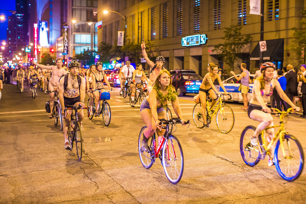 Chicago world naked bike ride