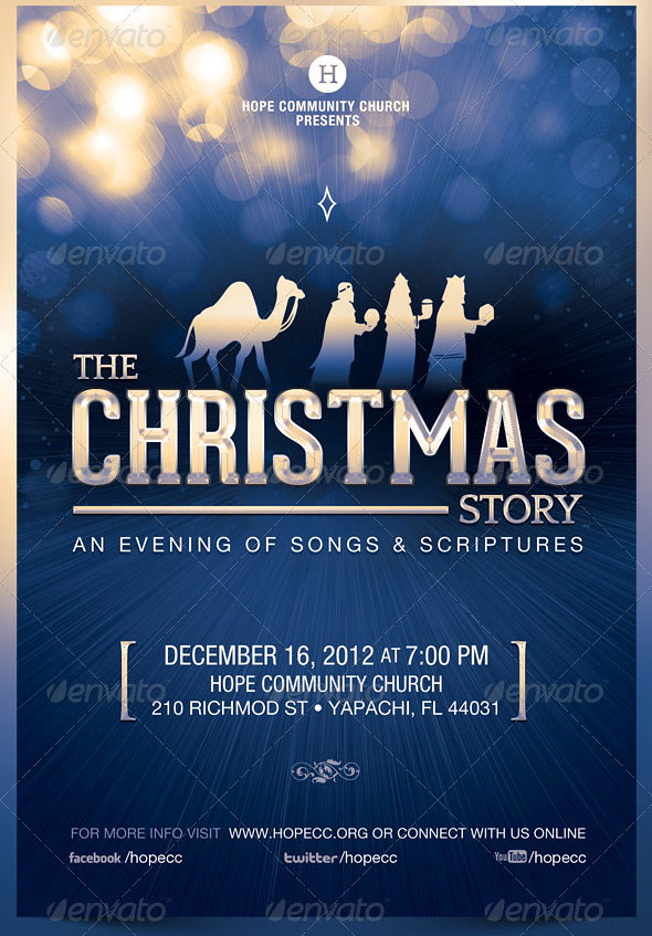 The Christmas Story Church Flyer Template   The Christmas St…   Flickr