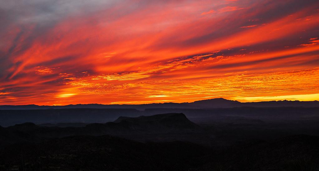 Bend Sunset Sunset Big Bend National