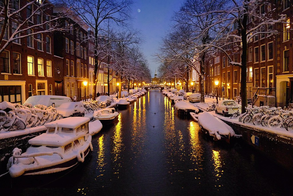 Winter Magic Evening In Amsterdam 169 All Rights Reserved