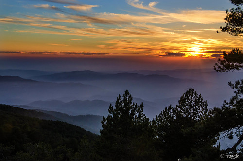 Sunset over The Troodos Mountains | by fragglerocks