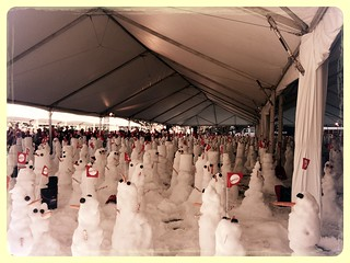 MATTEL 12 days of play - attempt at world record for most snow men built in an hour. | by inkxel