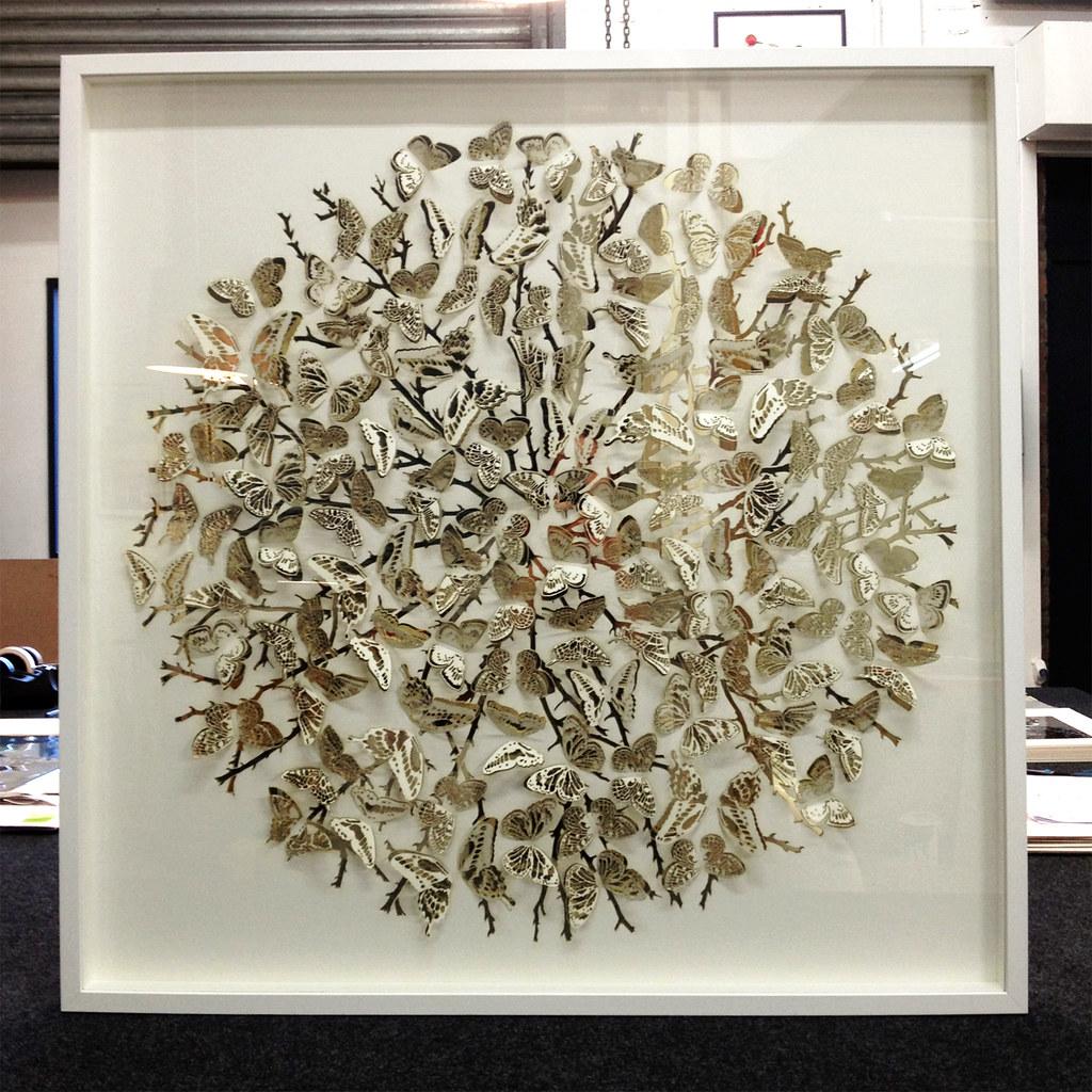 Lasercut Art In White Box Frame Lasercut Paper Art