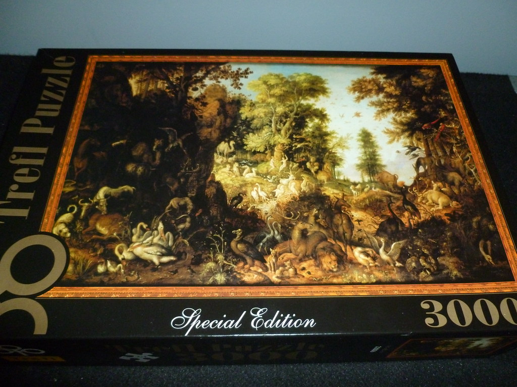 3000 piece puzzle adam and eve in the garden of eden by. Black Bedroom Furniture Sets. Home Design Ideas
