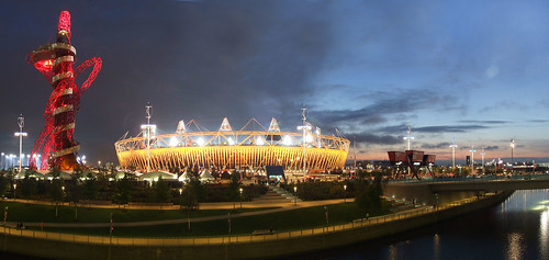 London 2012 Olympic Stadium, Orbit and Park Panorama | by tom_bullock