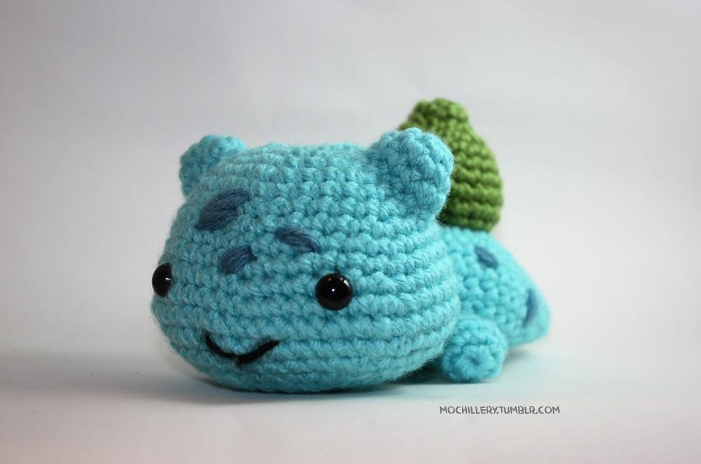 Bulbasaur v2 (crochet amigurumi) Made with slightly ...