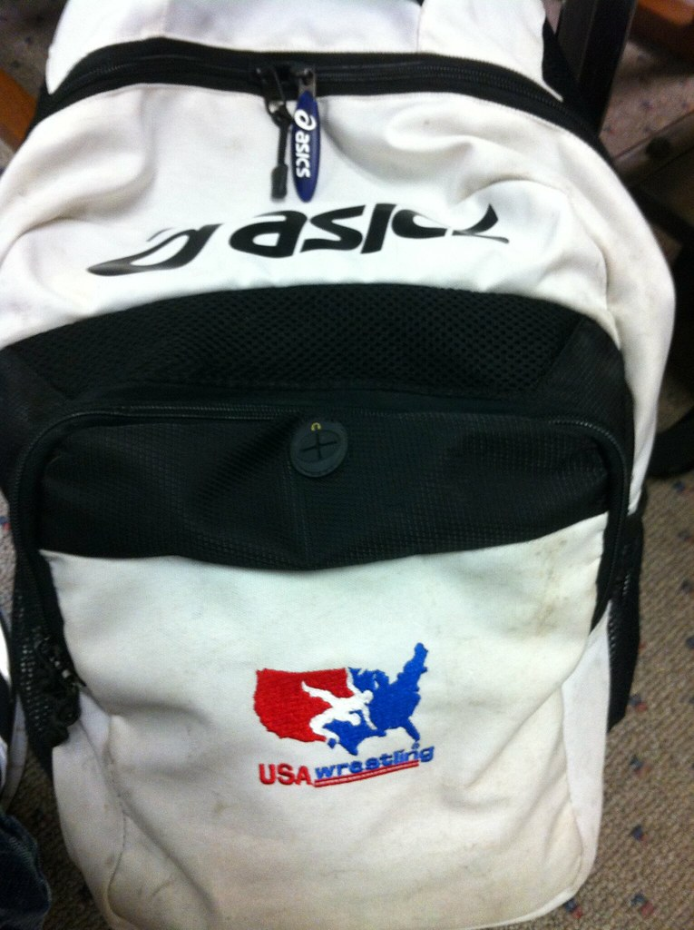 asics usa wrestling backpack