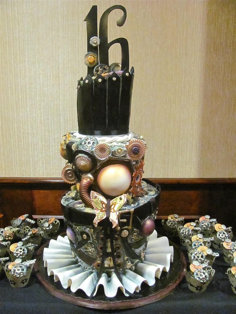 Steam Punk Cake Deco