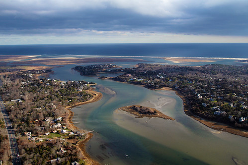 Aerial View Of Town Cove And Hopkins Island Orleans Cape
