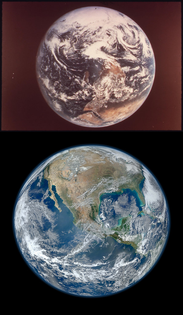 Earth Then And Now Courtesy Of Nasa Then Documerica