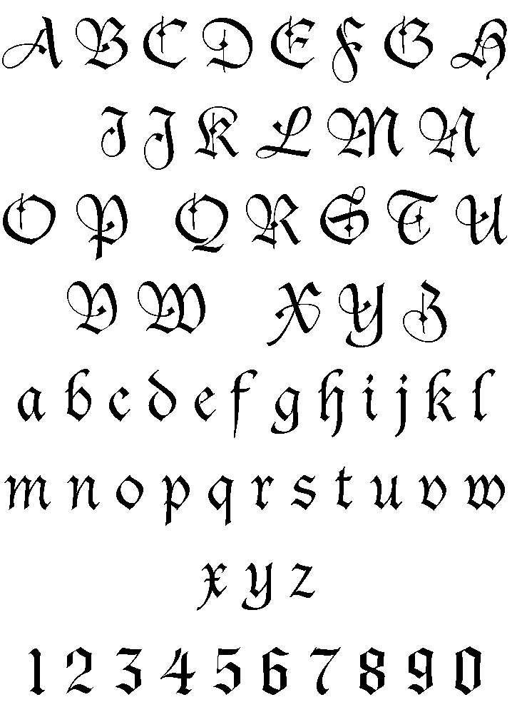Сделать свой шрифт для тату