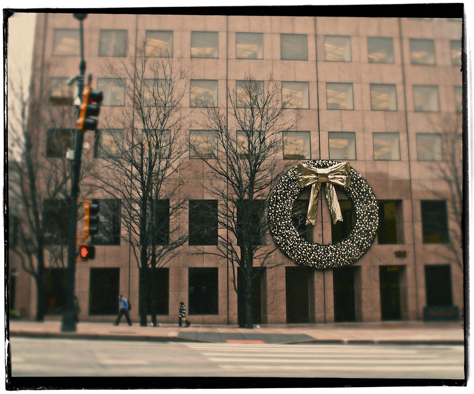 Wreath on the Georgia Pacific Building, Downtown Atlanta, 2012